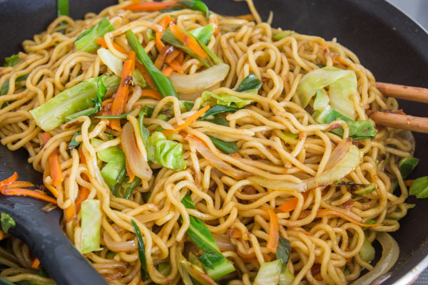 Recipe for the classic matsuri favorite, yakisoba.